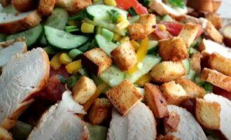салат эдельвейс с курицей