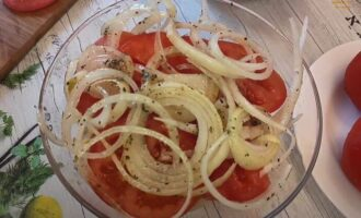 закуска из помидор с луком