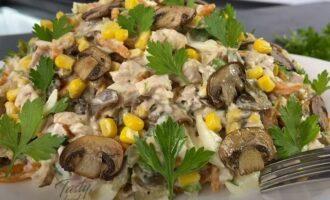 рецепт салата осень с курицей